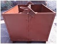 Контейнер грейферный (челюстной ),без крышки , 1 куб.м., сталь 3 мм.