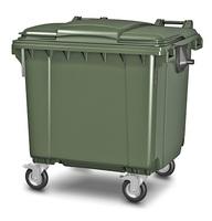 Пластиковый мусорный контейнер 1100л.