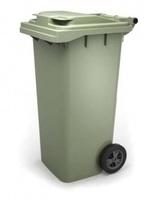 Пластиковый мусорный контейнер 120л.