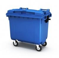 Пластиковый мусорный контейнер 660л.